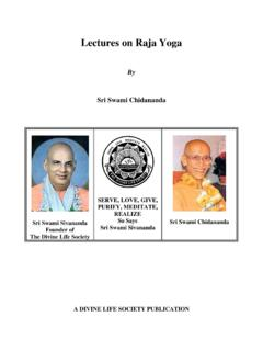 Lectures on Raja Yoga - The Divine Life Society