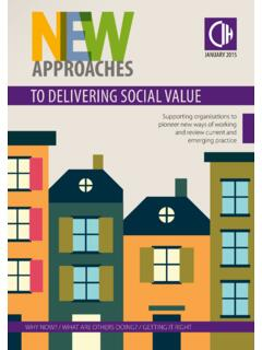TO DELIVERING SOCIAL VALUE - Chartered Institute of ...
