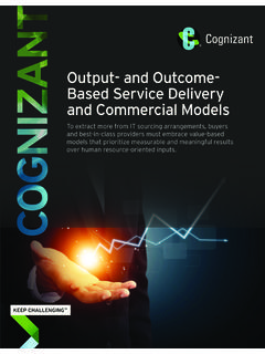 Output- and Outcome-Based Service Delivery and …