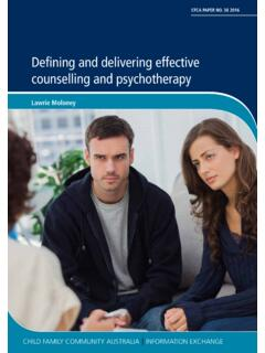 Defining and delivering effective counselling and ...