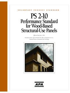 PS 2-10, Performance Standard for Wood-Based …