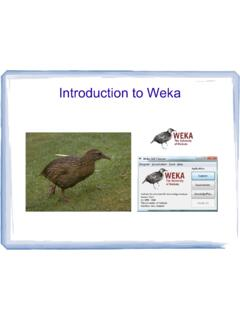 Introduction to Weka - The University of Auckland