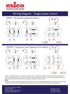 Wiring Diagram Single Phase Motors