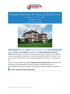 Newport Mansions & Historical Boston Tour