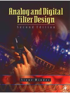 Analog and Digital Filter Design Second Edition