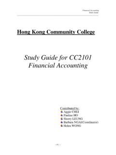 Study Guide for CC2101 Financial Accounting - …