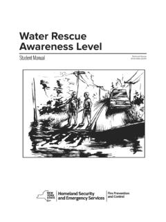 Water Rescue Awareness Level - New York
