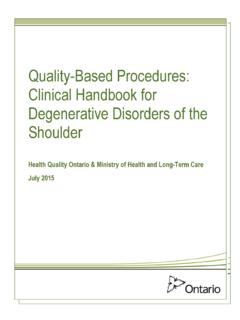 Quality-Based Procedures: Clinical Handbook for ...