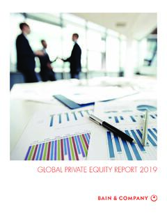 GLOBAL PRIVATE EQUITY REPORT 2019 - bain.com