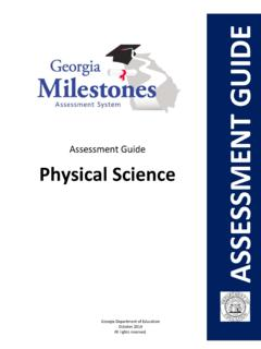 Assessment Guide Physical Science