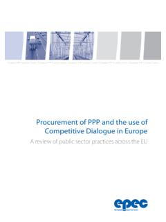Procurement of PPP and the use of Competitive …