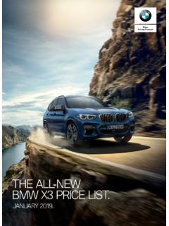 THE ALL-NEW BMW X3 PRICE LIST. - bmwgroup-media.co.za