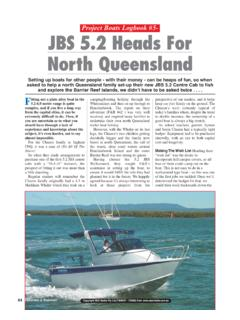 Project Boats Logbook #5- JBS 5.2 Heads For North Queensland