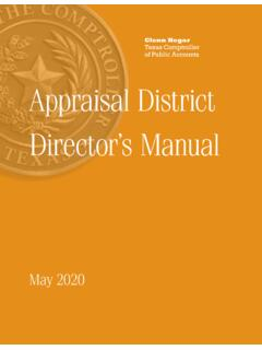 96-301 Appraisal District Director's Manual