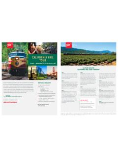 TM MORE TM EXPECT MORE CALIFORNIA RAIL TOUR - …