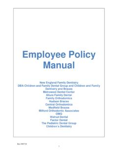 Employee Policy Manual - Dental Learning