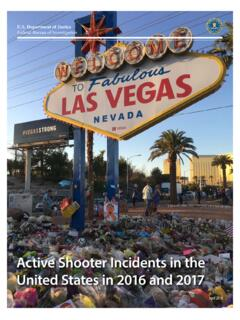 Active Shooter Incidents in the United States in 2016 and 2017