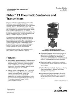Fisher C1 Pneumatic Controllers and Transmitters - …