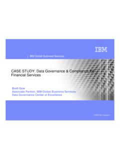 CASE STUDY: Data Governance & Compliance for …