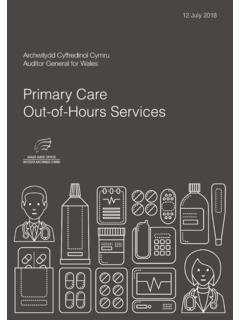 Primary Care Out-of-Hours Services - audit.wales