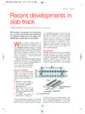 SLAB TRACK Recent developments in slab track - …