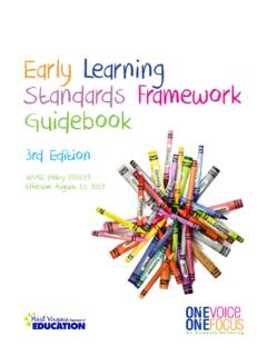 Early Learning Standards Framework Guidebook