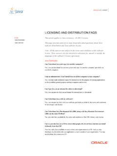 JAVA LICENSING AND DISTRIBUTION FAQS - Oracle