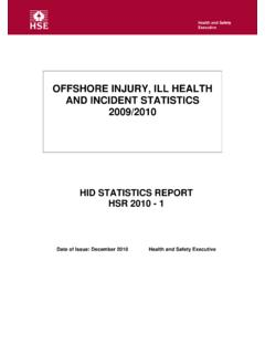 OFFSHORE INJURY, ILL HEALTH AND INCIDENT …