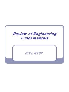 Review of Engineering Fundamentals - University …