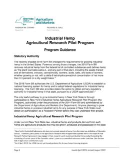 Industrial Hemp Agricultural Research Pilot Program