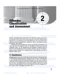Offender Classification and Assessment