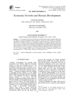 Economic Growth and Human Development - Yale …