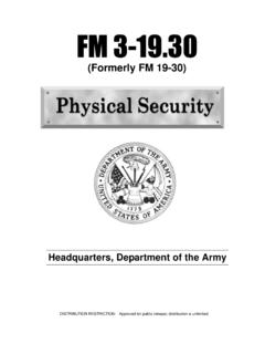 FM 3-19.30 Physical Security - Whole Building Design Guide