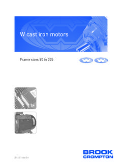W cast iron motors - Brook Crompton