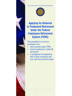 Applying for Deferred or Postponed Retirement …