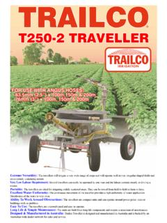 T250-2 TRAVELLER - Trailco Irrigation