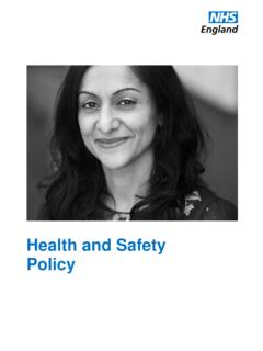 Health and Safety Policy - NHS England