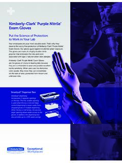 Kimberly-Clark Purple Nitrile Exam Gloves Datasheet