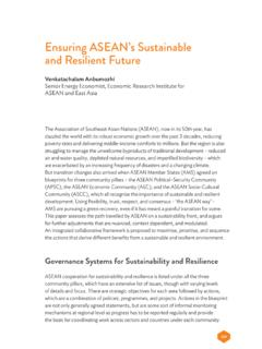 Ensuring ASEAN's Sustainable and Resilient Future