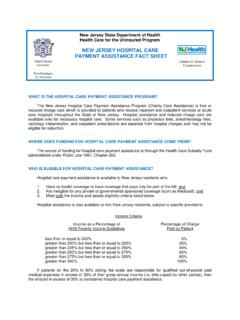 NEW JERSEY HOSPITAL CARE PAYMENT ASSISTANCE FACT …