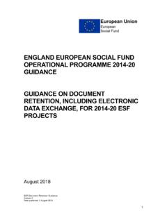 ESF Guidance on Document Retention