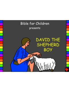 David the Shepherd Boy English - Bible for Children