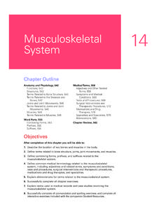 Musculoskeletal 14 System - Lippincott Williams & Wilkins