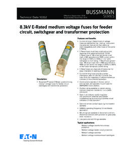 8.3kV E-Rated medium voltage fuses for feeder circuit ...