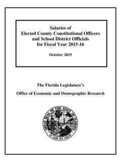 Salaries of Elected County Constitutional Officers and ...