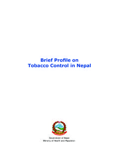 Brief Profile on Tobacco Control in Nepal - WHO