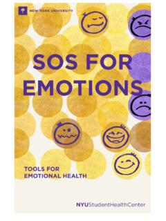SOS FOR EMOTIONS - nyu.edu