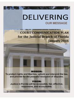 Court Communication Plan for the Judicial Branch …