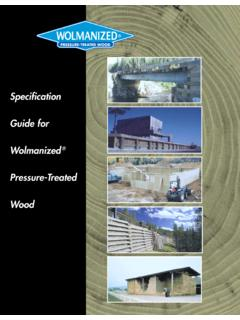 Specification Guide for Wolmanized Wood
