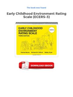 Early Childhood Environment Rating Scale (ECERS-3) PDF